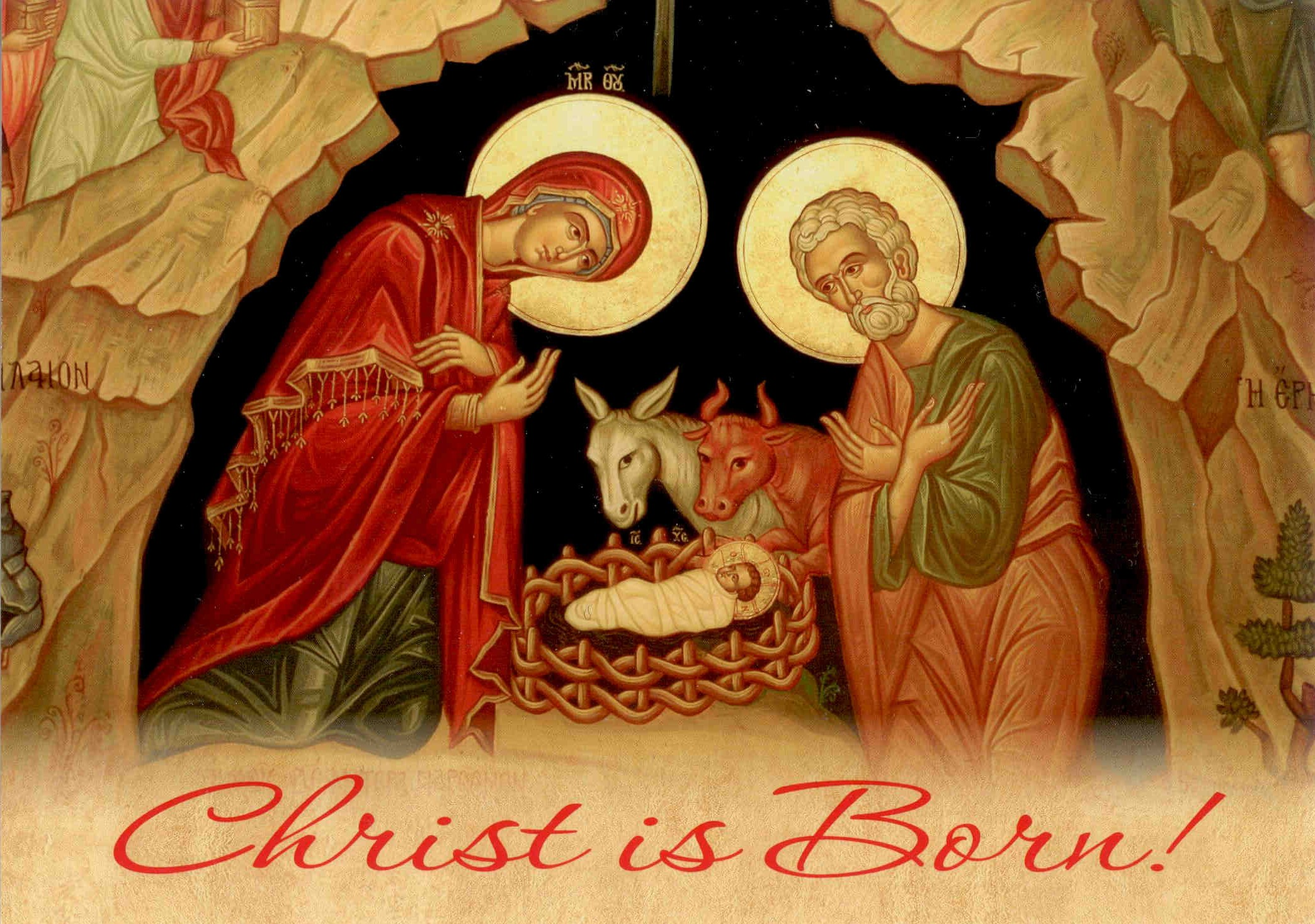 Image result for christ is born let us glorify him