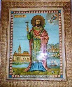 Икона св. Иоанна Сучавского. Патриарший русинский храм св. Иоанна Крестителя. Вегревилл. Альберта. Канада