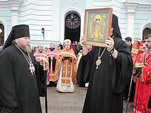 Благословение мироточивым образом св. Страстотерпца Николая