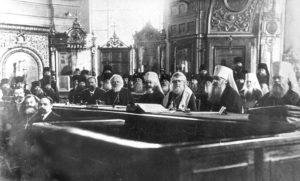 Всероссийский Поместный Собор 1917–1918 гг. во главе с новоизбранным Патриархом Тихоном