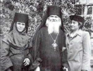 Прп. Лаврентий Черниговский с духовными чадами